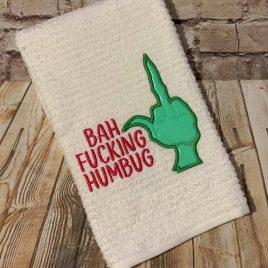 Green Guy Bah Humbug, Embroidery Design, Digital File