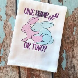 One Hump or Two, Embroidery Design, Digital File