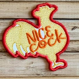 Nice Cock Patch, In the hoop, Embroidery Design, Digital File