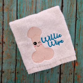 Willie Wipe, Towel Design, Washcloth, Embroidery Design, Digital File