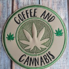 Coffee and Cannabis, Coaster, Embroidery Design, Digital File