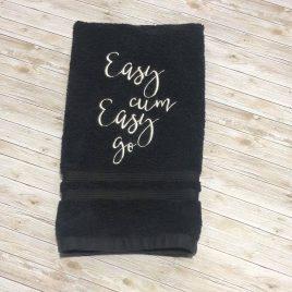 Easy Cum Easy Go Cloth, Towel Design, Washcloth, Embroidery Design, Digital File