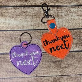 Thank you, Next Keyfobs, Snap Tab, Eyelet Keyfob, Embroidery Design, Digital File