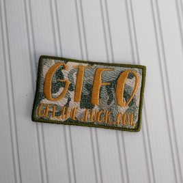 GTFO Patch, In the hoop, Embroidery Design, Digital File