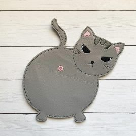 Angry Cat Asshole, Coaster, Embroidery Design, Digital File