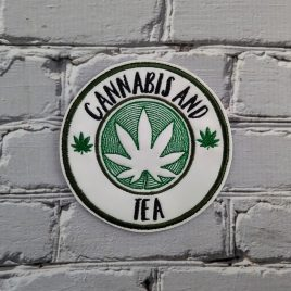 Cannabis And Tea, Coaster, Embroidery Design, Digital File