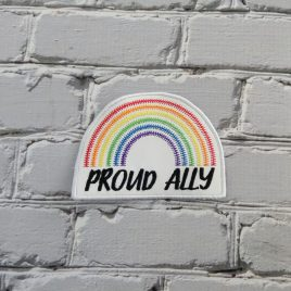 Pride Ally Rainbow Patch, In the hoop, Embroidery Design, Digital File