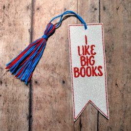 Big Books, Bookmark, Embroidery Design, Digital File