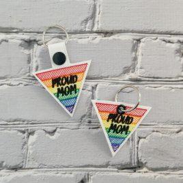Proud Mom Ally, Snap Tab, Eyelet Keyfob, Embroidery Design, Digital File