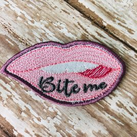 Bite Me Lips Patch, In the hoop, Embroidery Design, Digital File