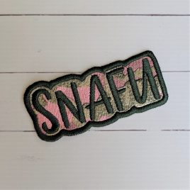 SNAFU Patch, In the hoop, Embroidery Design, Digital File