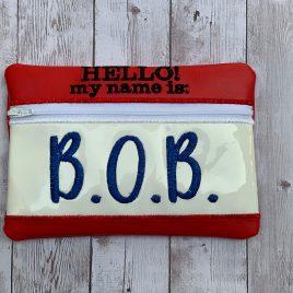 BOB, Adult Toy, Zipper Bag, 5×7, 6×10, 8×12, Embroidery Design, Digital File