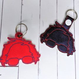 Bernie Outline, Keyfobs, Snap Tab, Eyelet Keyfob, Embroidery Design, Digital File