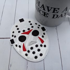 Horror Hockey Mask, Coaster, Embroidery Design, Digital File