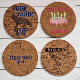 Letterkenny Coaster SET, Set of 4, Embroidery Design, Digital File