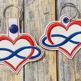 Polyamory Symbol, Keyfobs, Snap Tab, Eyelet Keyfob, Embroidery Design, Digital File