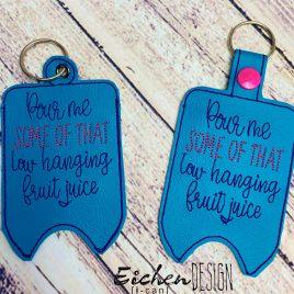 Low Hanging Fruit Mini Liquor Bottle Case, Snap Tab, Eyelet Keyfob, Embroidery Design, Digital File (Copy)