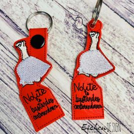 Nolite Te Bastardes Keyfobs, Snap Tab, Eyelet Keyfob, Embroidery Design, Digital File