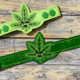Kawaii Cannabis, Mask Extender, ITH, Embroidery Design, Digital File