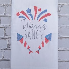 Wanna Bang, Fireworks Design, Washcloth, Embroidery Design, Digital File