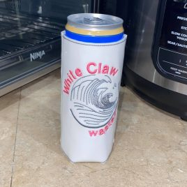 White Claw Wasted, Can Wrap, 4×4 and 5×7, ITH, Embroidery Design, Digital File