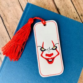 Pennywise, IT, Bookmark, Embroidery Design, Digital File