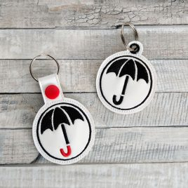 Umbrella, Snap Tab, Eyelet Keyfob, Embroidery Design, Digital File