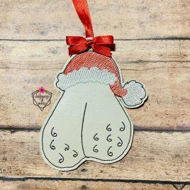 Santa's Sack, Scrotum, Balls, Ornament, In the Hoop, Embroidery Design, Digital File