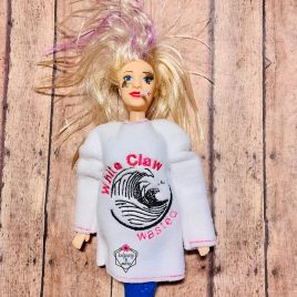 Whiteclaw Wasted, Doll Sweater, In the Hoop, 5×7 only Embroidery Design, Digital File