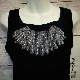 RBG Necklace, Sketch, Embroidery Design, Digital File