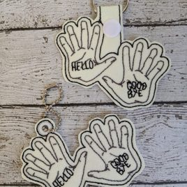 Klaus Hands, UA, Snap Tab, Eyelet Keyfob, Embroidery Design, Digital File
