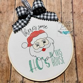 Ho's in this house, Sketch, Embroidery Design, Digital File