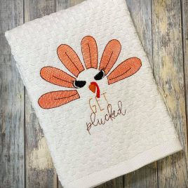 Get Plucked, Sketch, Embroidery Design, Digital File