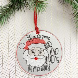 Ho Ho Ho's In This House, Snowflake, Ornament, In the Hoop, Embroidery Design, Digital File