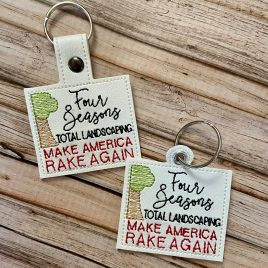 Make America Rake Again, Snap Tab, Eyelet Keyfob, Embroidery Design, Digital File
