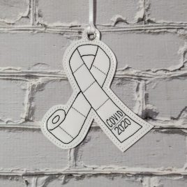 TP Awareness, Ornament, In the Hoop, Embroidery Design, Digital File