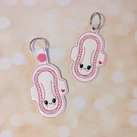 Mama Cloth, Snap Tab, Eyelet Keyfob, Embroidery Design, Digital File
