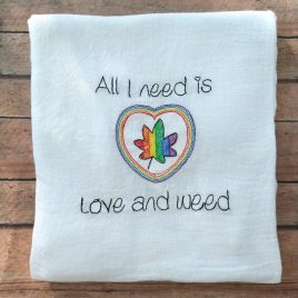 Love and Weed, Sketch, Embroidery Design, Digital File