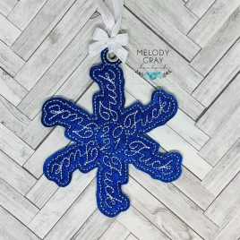 BEAN STITCH Fuck 2021 Snowflake, Ornament, In the Hoop, Embroidery Design, Digital File