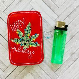 Happy Holiblaze Stash Box Decor, In the Hoop, Embroidery Design, Digital File