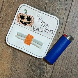 Happy Halloweed, Joint Holder, In the hoop, Embroidery Design, Digital File
