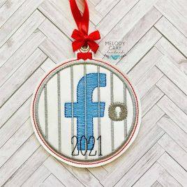 Facebook Jail 2021, Ornament, In the Hoop, Embroidery Design, Digital File
