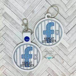 FB Jail, Snap Tab, Eyelet Keyfob, Embroidery Design, Digital File